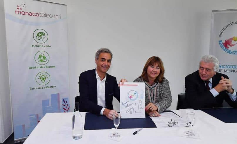 Monaco Telecom signs the Energy Transition Charter
