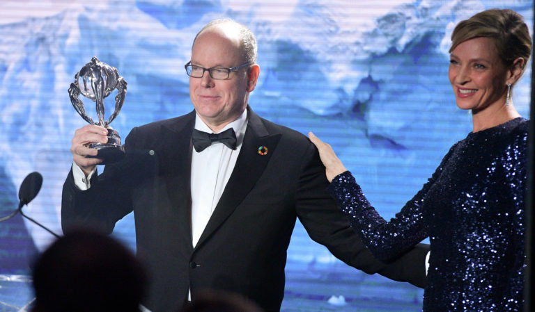 Prince Albert II de Monaco honoré lors du Hollywood Gala 2020