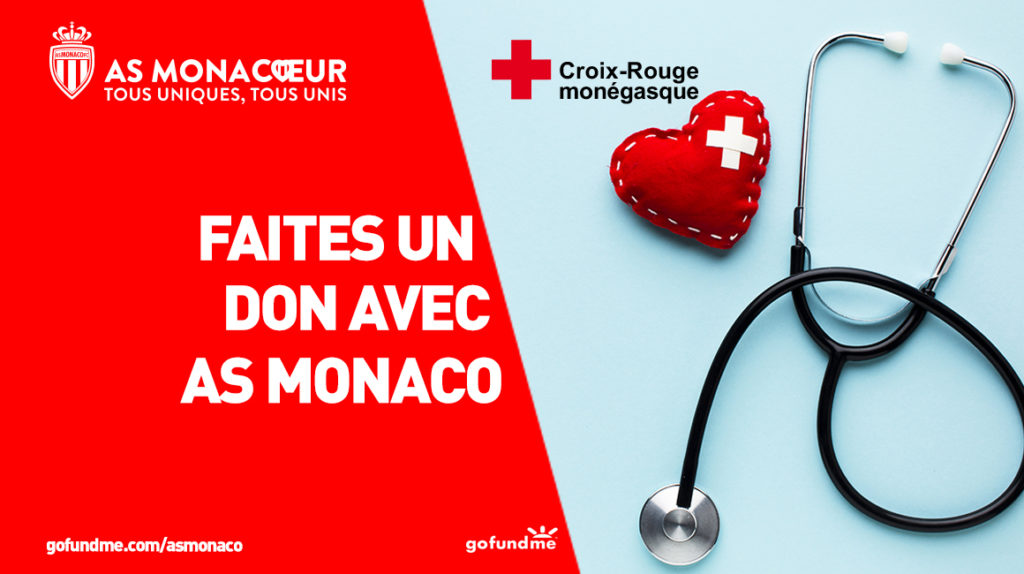 AS Monaco Coronavirus Croix Rouge