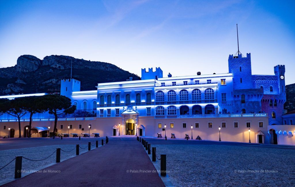 prince palace light it blue campaign covid 19