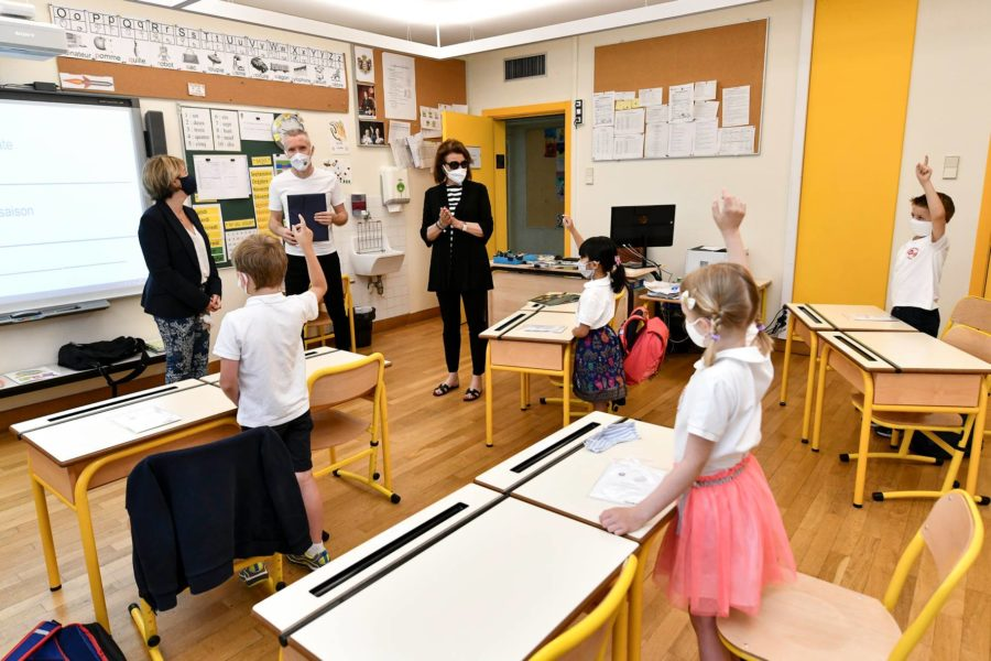 monaco primary school reopen