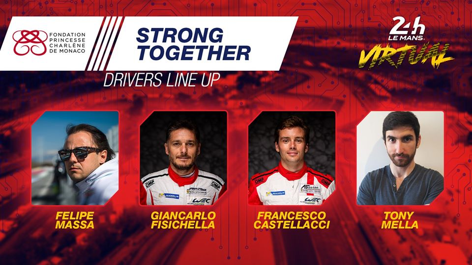 strong together line up virtual 24 hours of le mans princess charlene monaco