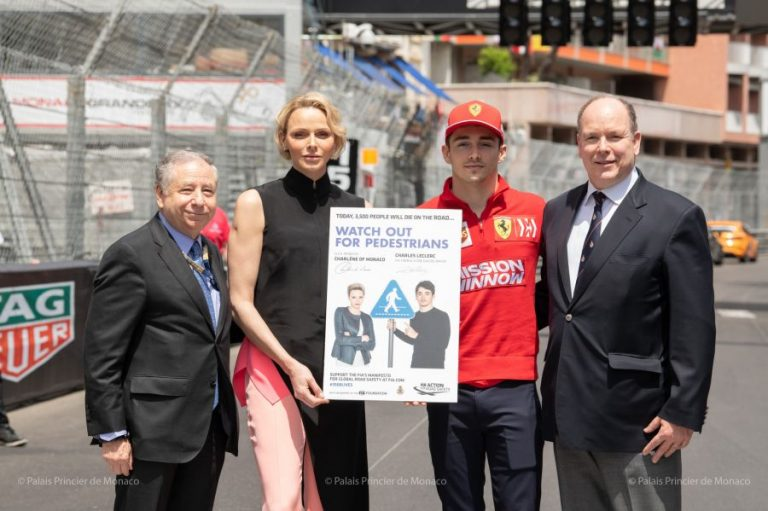 Mr. Jean Todt, HSH Princess Charlene, Mr. Charles Leclerc and HSH Prince Albert II © Eric Mathon : Palais Princier