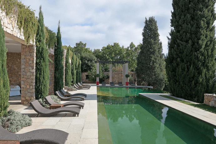 Swimming pool of Brigitte Bardot's villa near Cannes