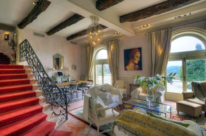Living room of Brigitte Bardot's villa near Cannes