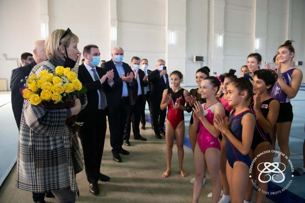 Princess Charlene of Monaco Foundation on a visit in Tbilisi