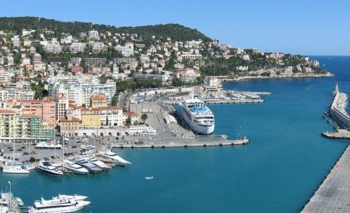 Nizza port Lympia battello Cap d'Ail