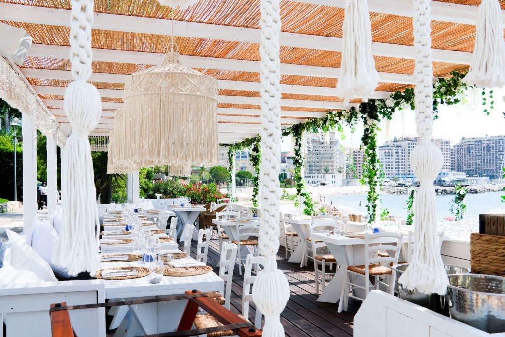 Naos Beach Cap d'Ail Restaurant estival Monaco environs